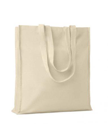 Bolsa de algodón con fuelle