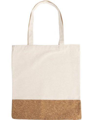 Bolsa de algodón y corcho