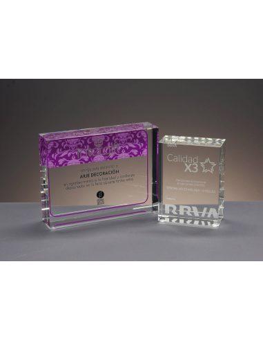 Trofeo bloque de cristal