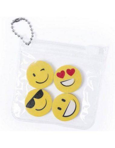 Set de gomas con emoticonos