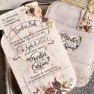 Invitación de boda con forma de frasco