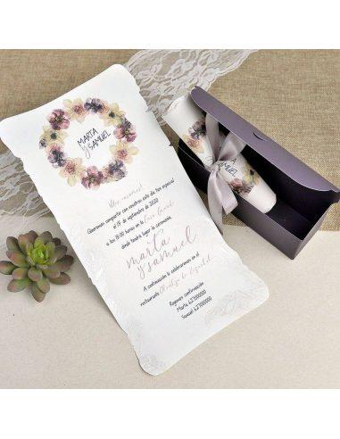 Invitación de boda con caja