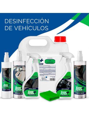 Productos desinfectantes para vehículos