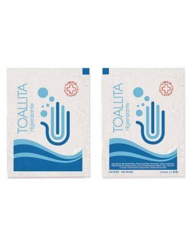 Sobres de toallitas higienizantes