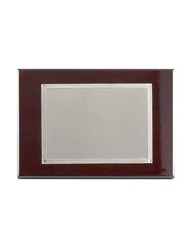 Placa de madera con acabado de plata