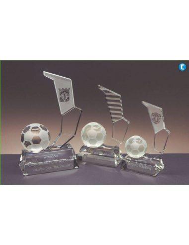 Trofeo de cristal BOTA DE FÚTBOL