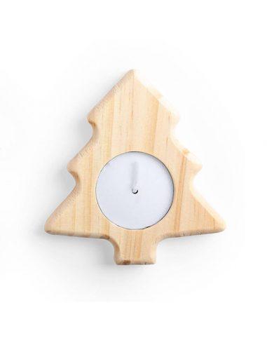 Vela de madera navideña