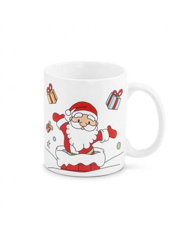 Taza de Navidad con Papá Noel