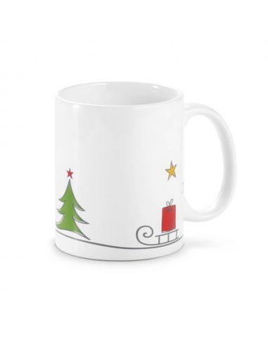 Taza de Navidad con trineo