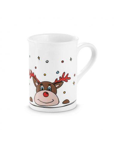 Taza de Navidad con reno
