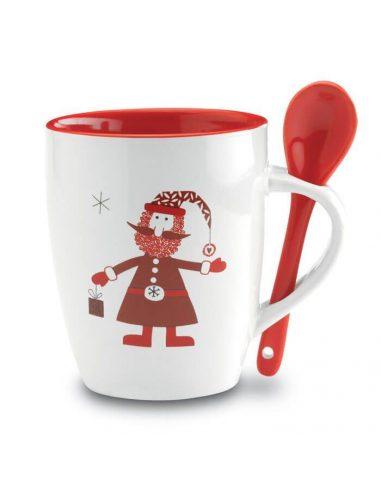 Taza de Navidad con cuchara
