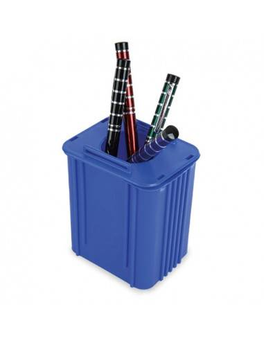 Portalapiceros reciclaje contenedor azul