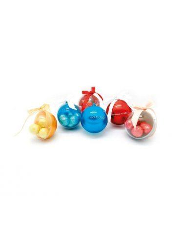 Bolas de navidad rellenas de caramelos