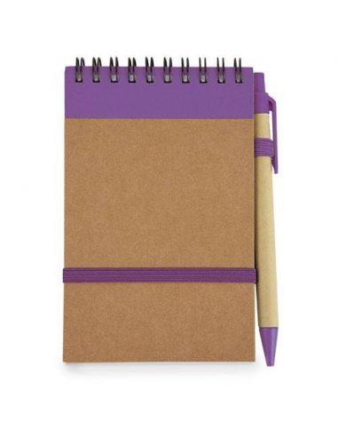 Libreta de cartón con bolígrafo