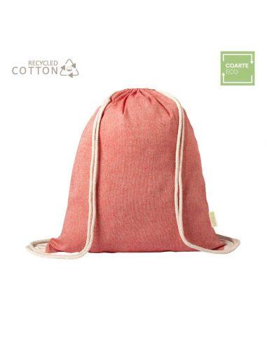 Mochila de algodón reciclado de colores
