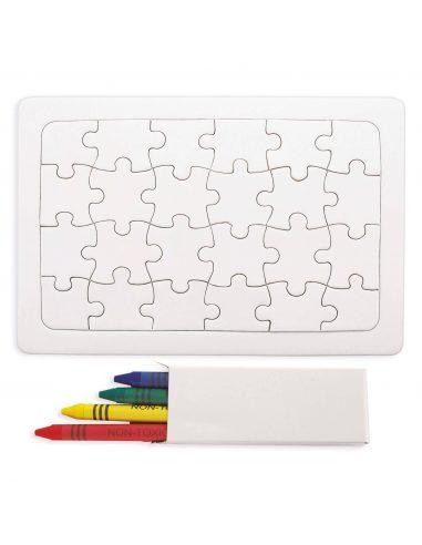 Puzzle con ceras para colorear