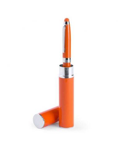Bolígrafo puntero con estuche de metal