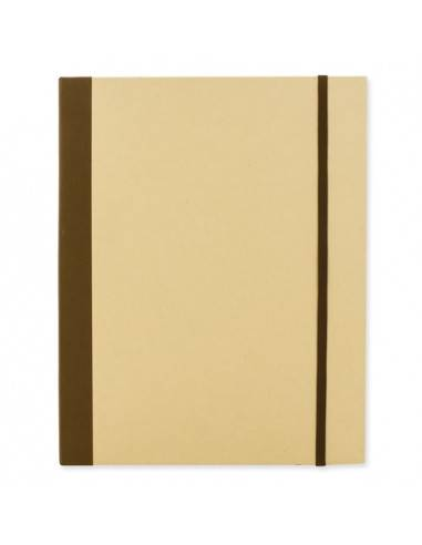 Portafolio de cartón con marcadores