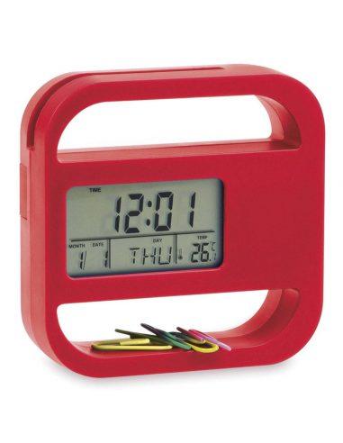 Reloj de escritorio con clips
