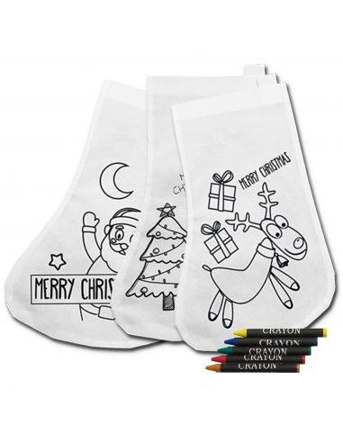 Pack de calcetines de navidad para pintar