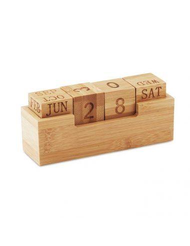 Calendario perpetuo de bambú
