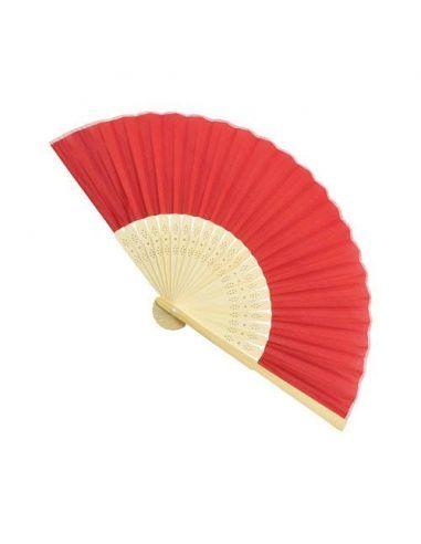 Abanico de bambú de colores