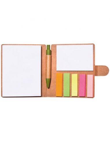 Bloc de notas adhesivas con bolígrafo