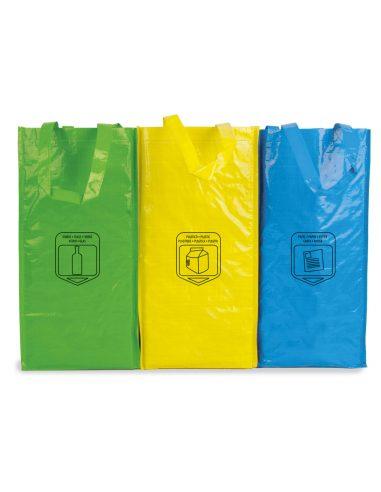 Bolsa de triple reciclaje