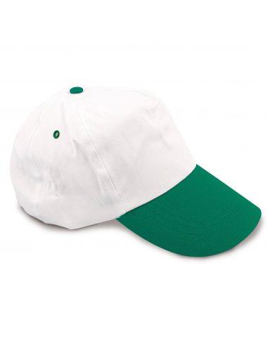 Gorra bicolor de algodón