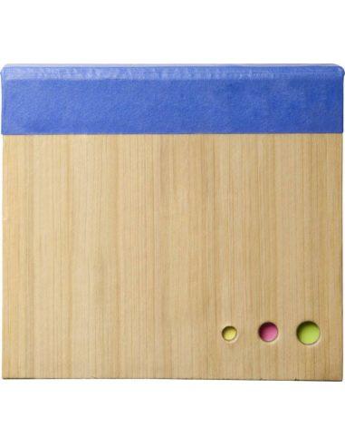 Cuaderno con notas adhesivas de bambú