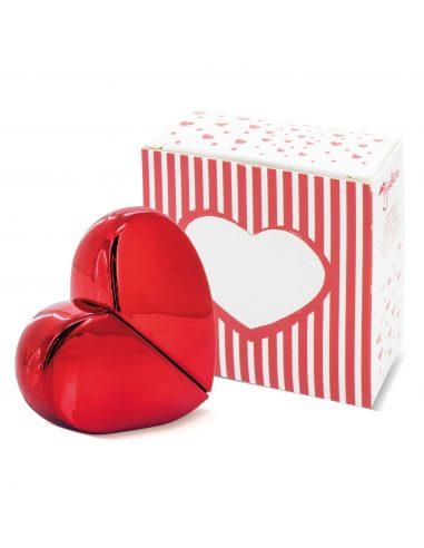 Frasco de perfume con forma de corazón