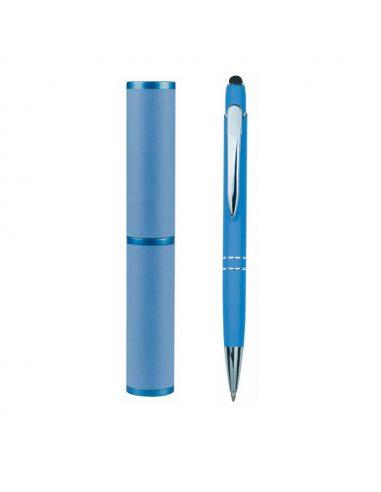 Bolígrafo puntero con estuche de aluminio