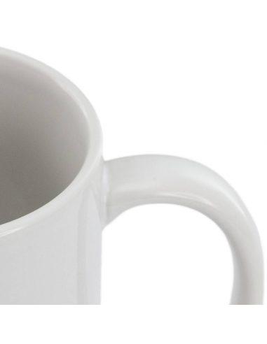 Taza blanca cerámica de 350 ml para sublimación
