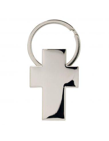 Llavero metálico con forma de cruz