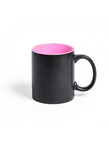 Taza cerámica negra para engraving