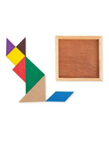 Tangram de madera para niños