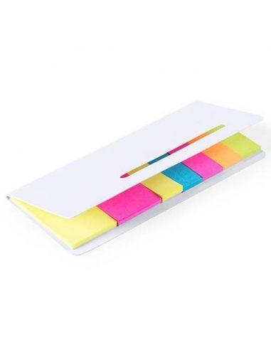 Bloc de notas adhesivas con tapa troquelada