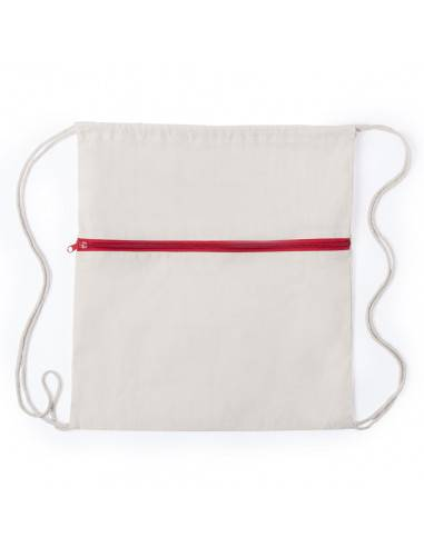 Mochila de algodón con bolsillo