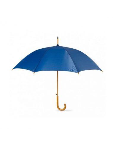 Paraguas de personalización 360 y mango de madera