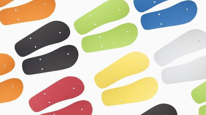 Suelas de colores para chanclas personalizadas