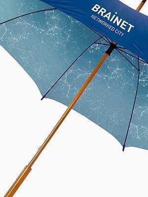 paraguas personalizados de bastóns