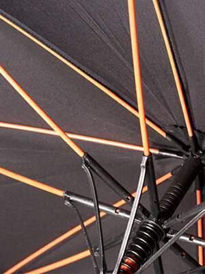 paraguas personalizados con varillas de fibra de vidrio