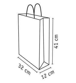 medidas de bolsa de papel reciclado de 32x41 cm