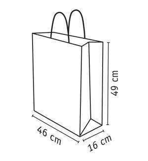 bolsa de papel reciclado 46x16