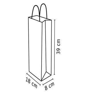 medidas de bolsa de papel kraft de 18 x 39 cm