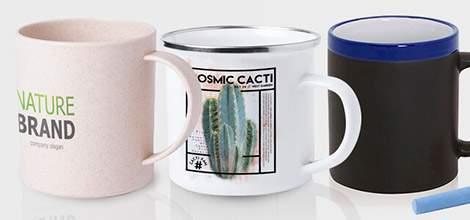 Tazas personalizadas de diferentes materiales