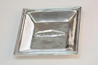 bandeja de plata personalizada