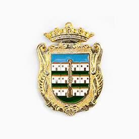 medalla institucional fabricada en oro