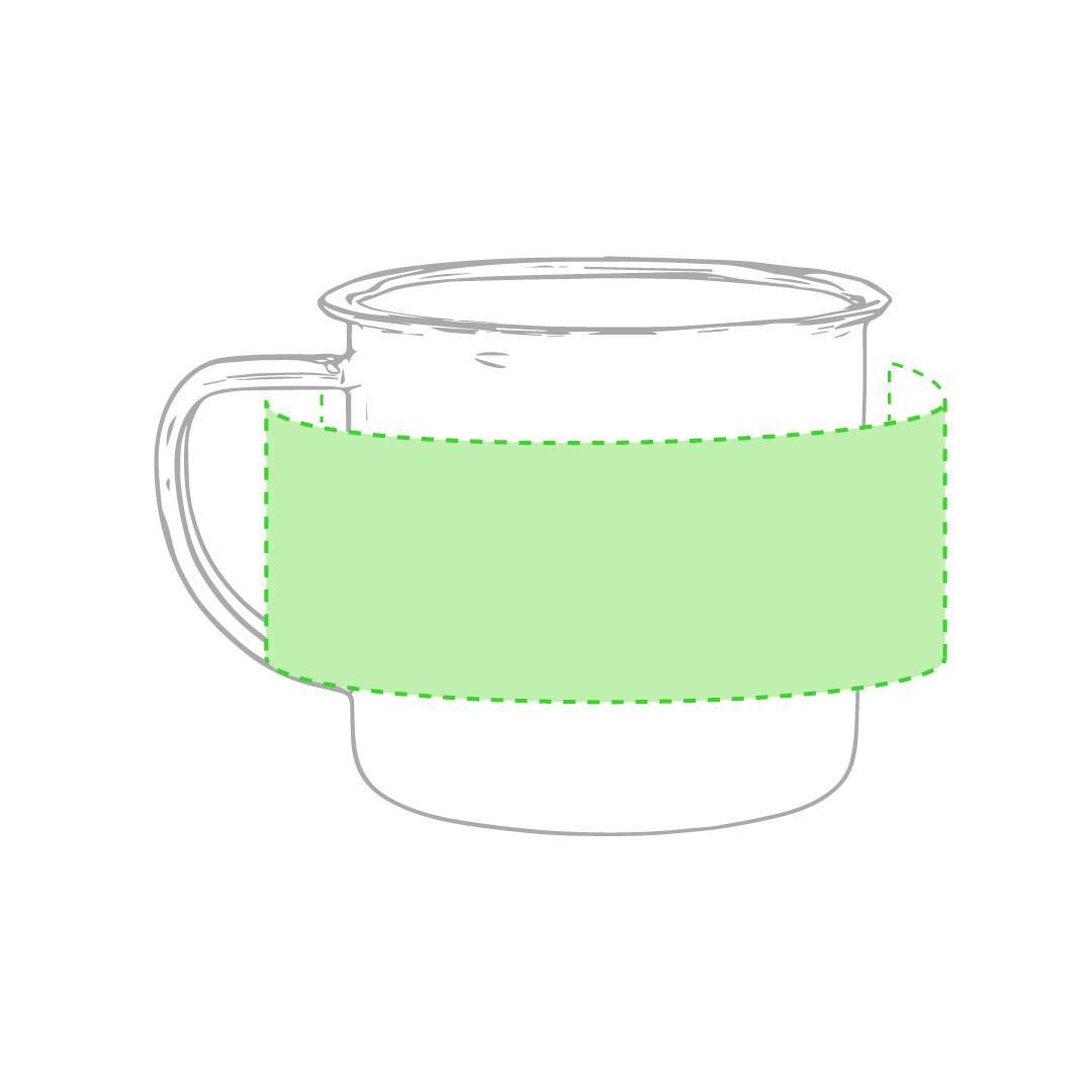 Taza metálica de colores personalizada 1