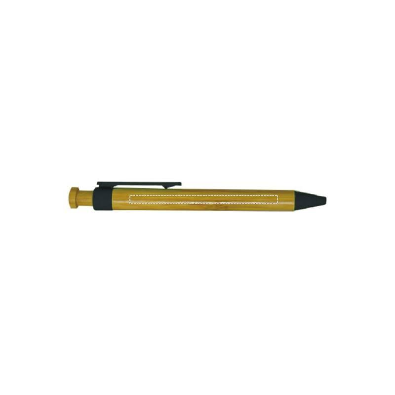 Bolígrafo de bambú con pulsador 1